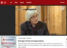 TV4 Nyheterna om nyvalde ärkebiskopen